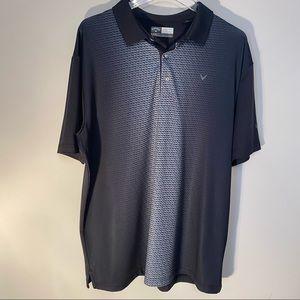 🥕Callaway Opti Dri Golf Shirt Medium Black Polo